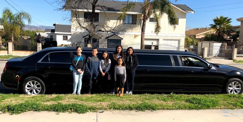 Students with limo