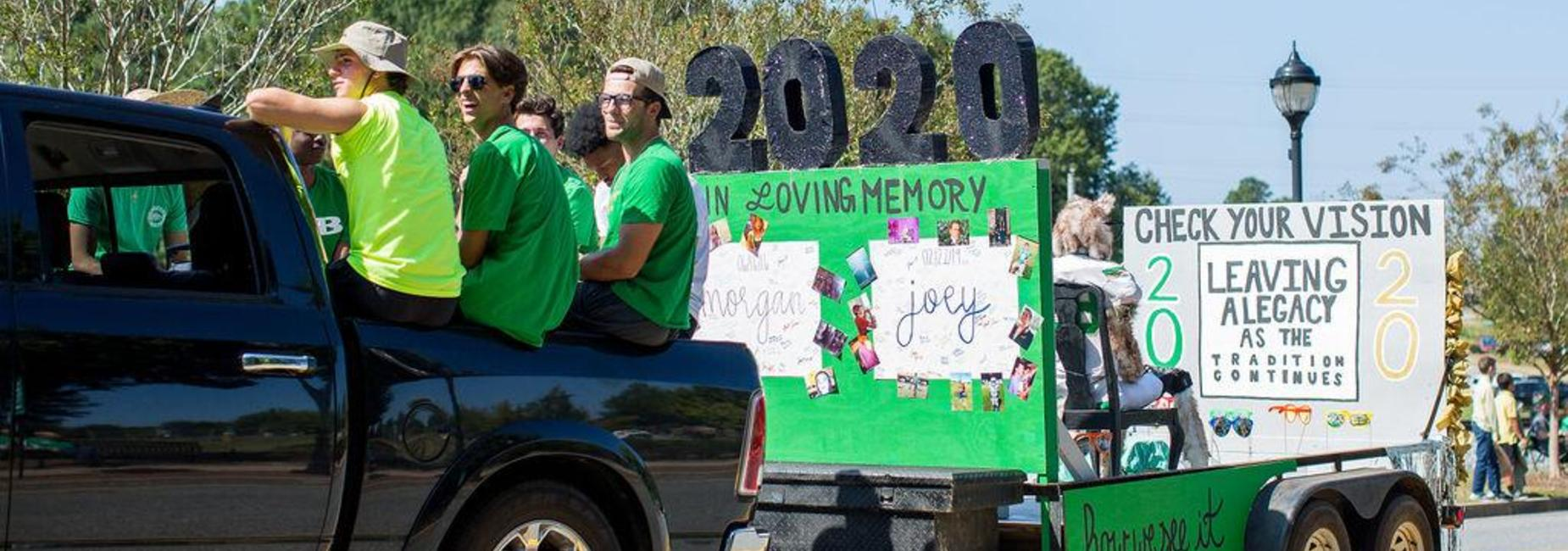 Class of 2020 Homecoming Float