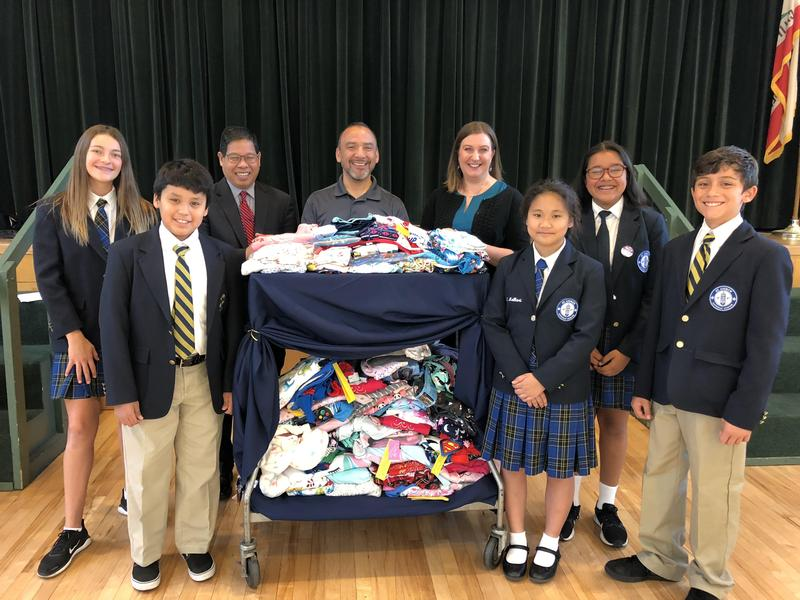 St. Andrew Students Collect Pajamas for the Olive Crest Organization Featured Photo