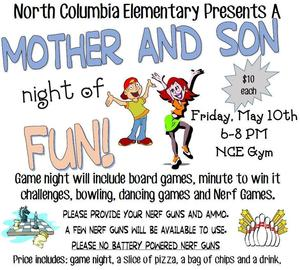 Mother and Son Game Night