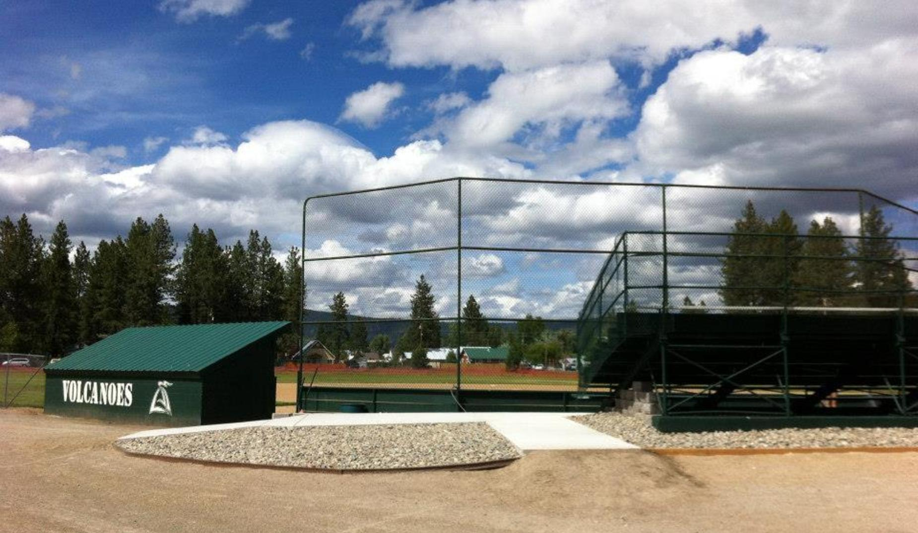 Volcanoes baseball dugout and stadium