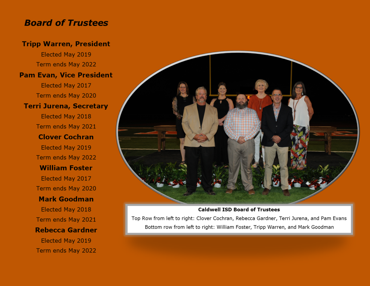 Caldwell ISD Board of Trustees