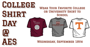 College shirt day
