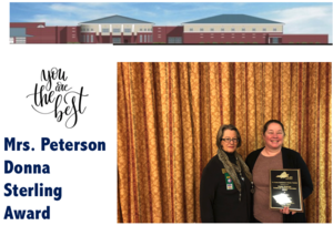 Mrs. Peterson wins Donna Sterling Award