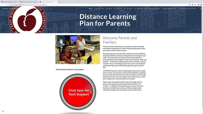 Distance Learning Plan for Parents