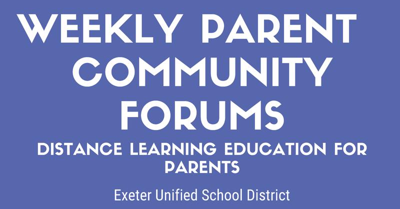 weekly community forum pic