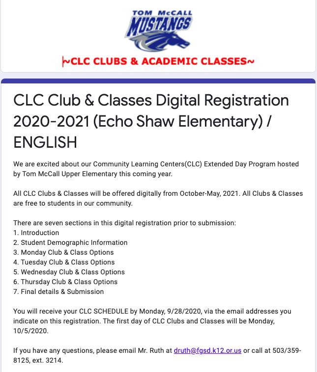 Instrumental music digital registration form thumbnail image in English