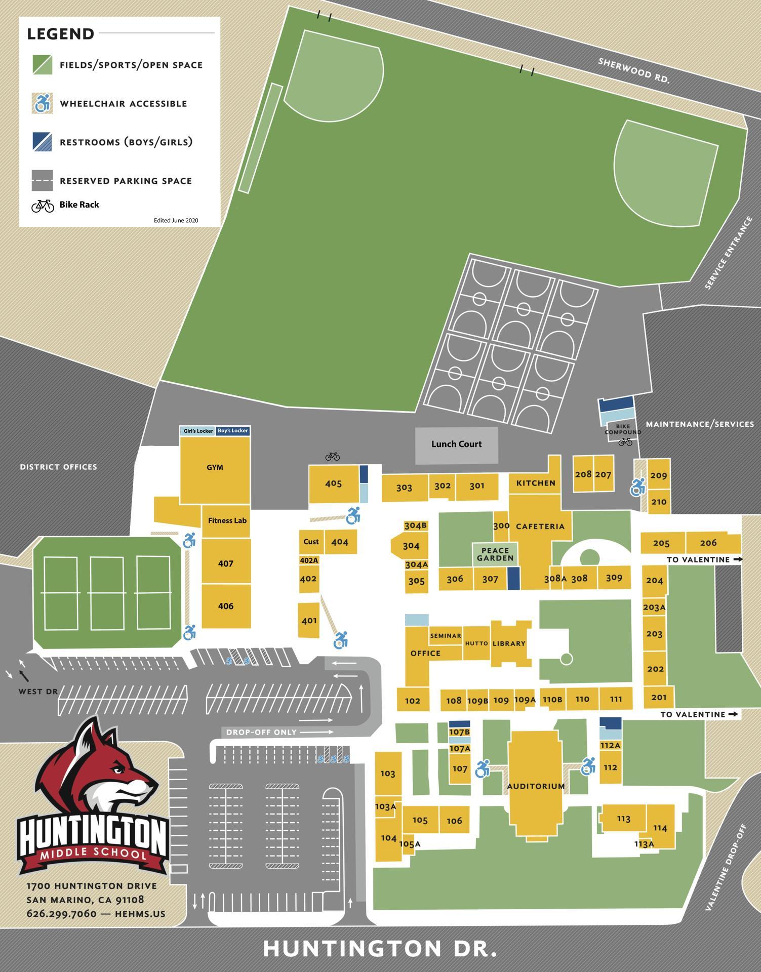 2020 HMS Campus Map