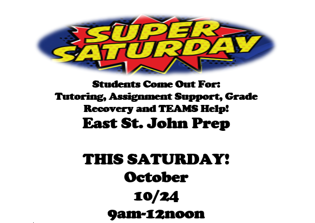 Super Saturday Support Workshop for Students 10/24 9am until 12noon Thumbnail Image