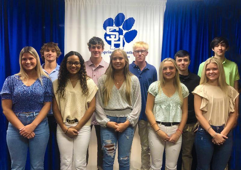 Ten Spring Hill High School Seniors Selected for Texas Bank and Trust Student Board of Directors