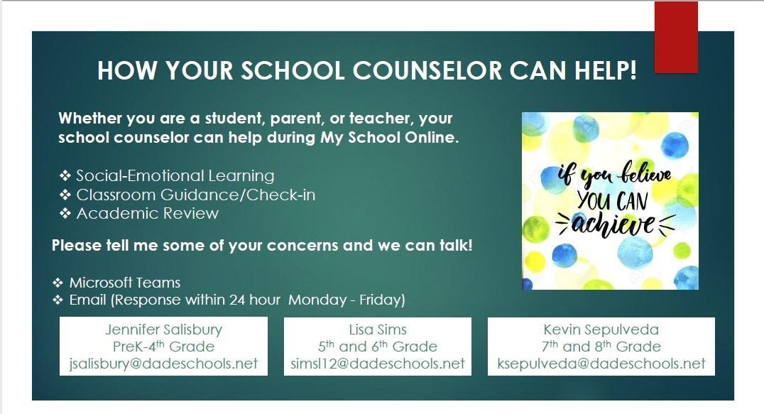 counselor contact information