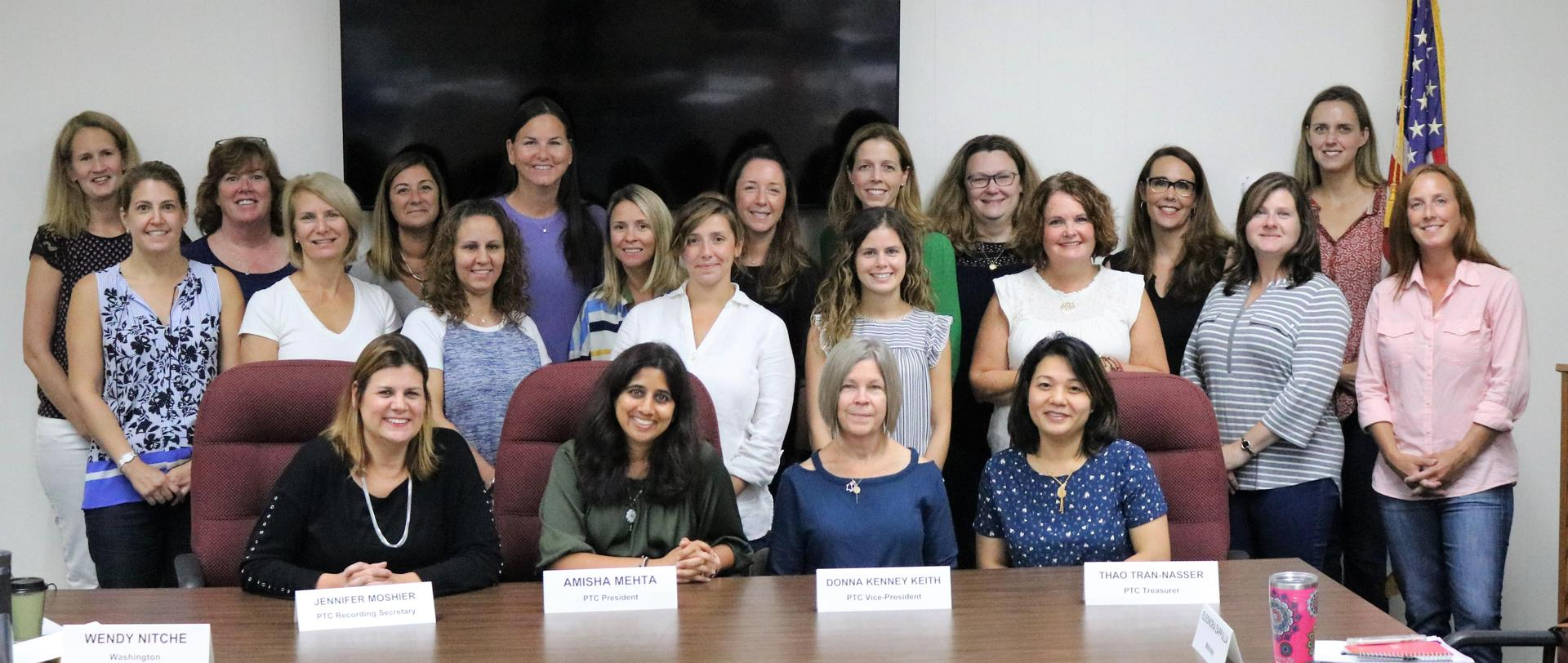 A group photograph of the Parent Teacher Council for 2018-2019.
