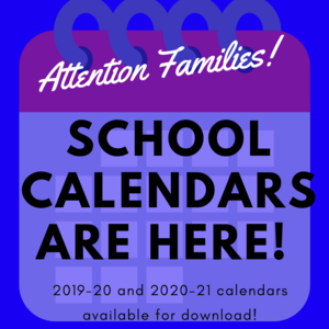 School Calendars are here!