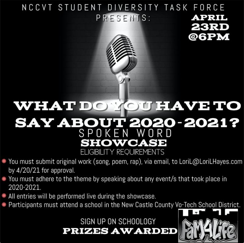 Spoken Word Showcase Flyer