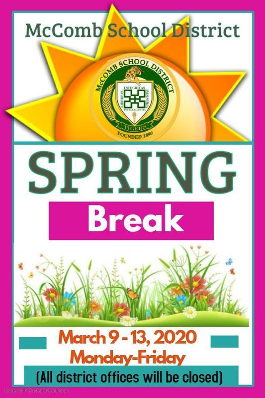 McComb School District Spring Break 2020 #ItsComeBackTime