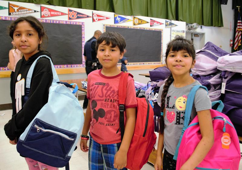 Students from Pleasant View Elementary School searched for their perfect backpacks on Aug. 14 during Kaiser Permanente's 10th annual Backpack and School Supply Donation campaign.