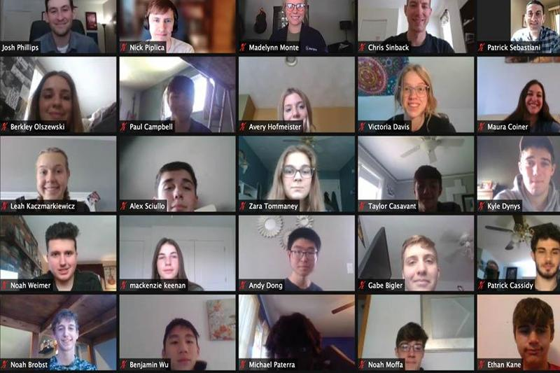 virtual meeting screen