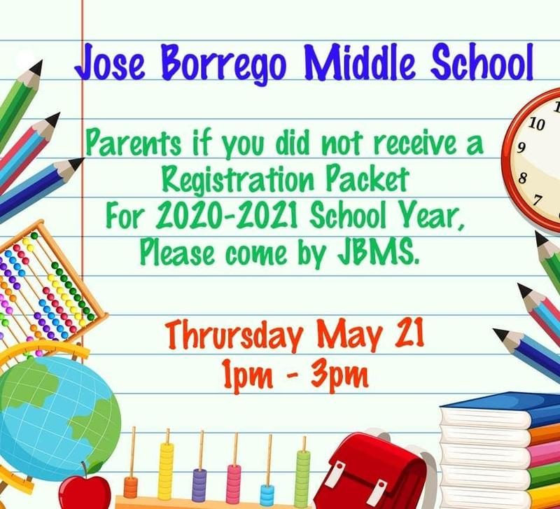 JBMS 2020-2021Registration Packet Information Featured Photo