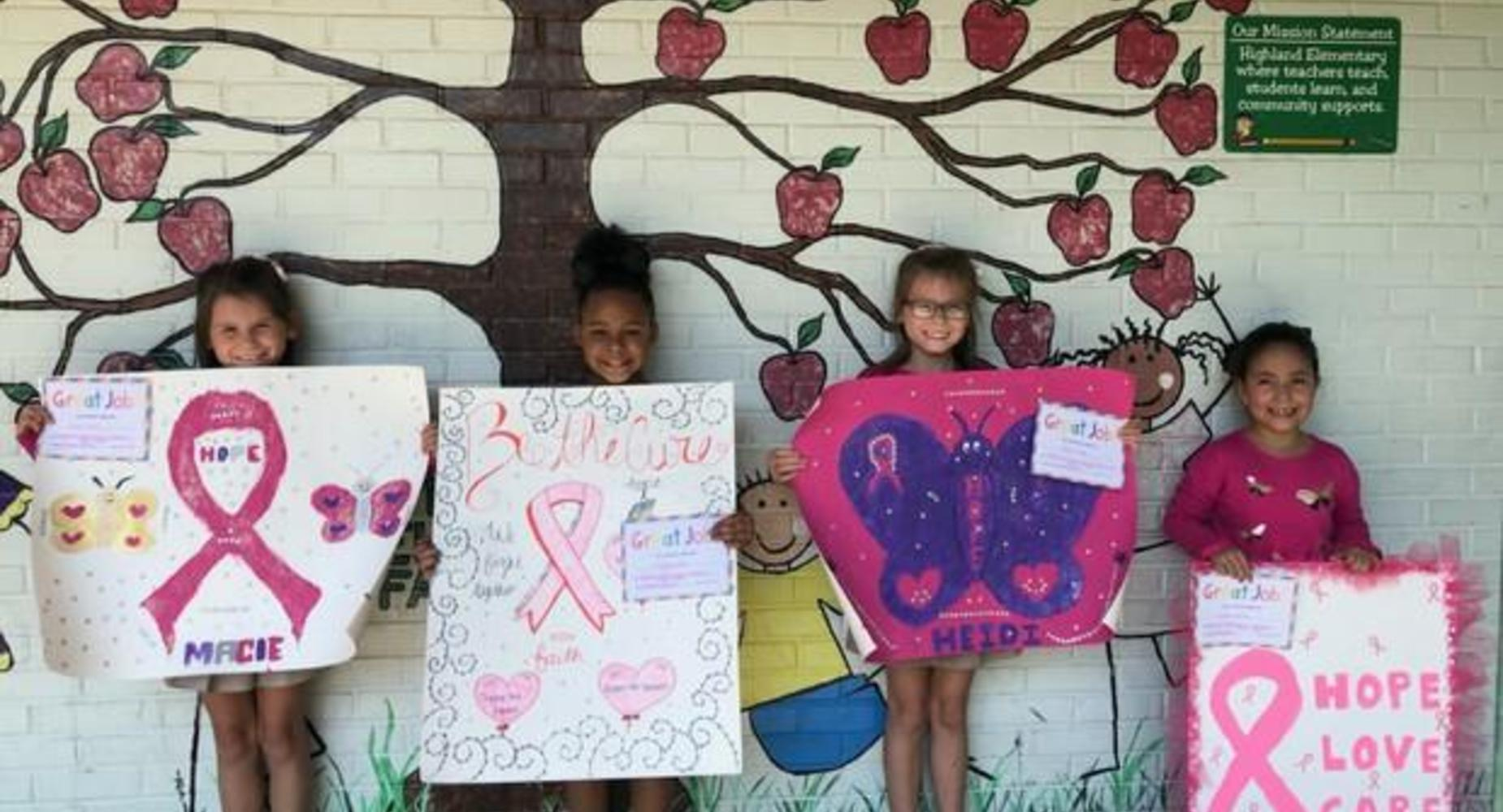walk for the cure poster winners