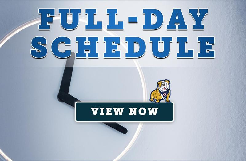 New Full-Day Schedule (Effective April 19, 2021)