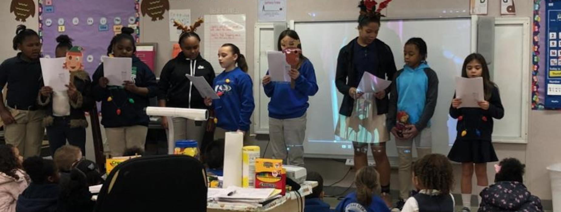 Fourth Grade Students Spread Joy by Singing Christmas Carols!