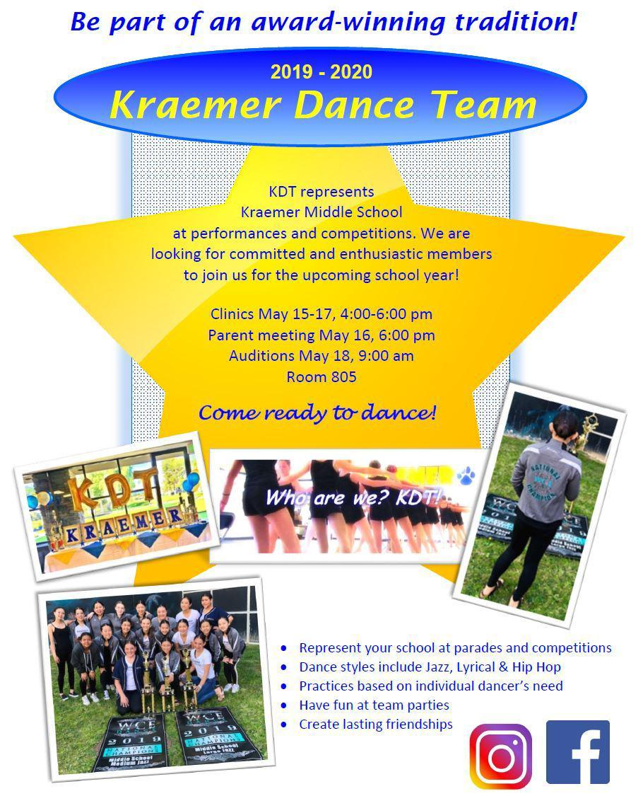Kraemer Dance Team (2019-2020)