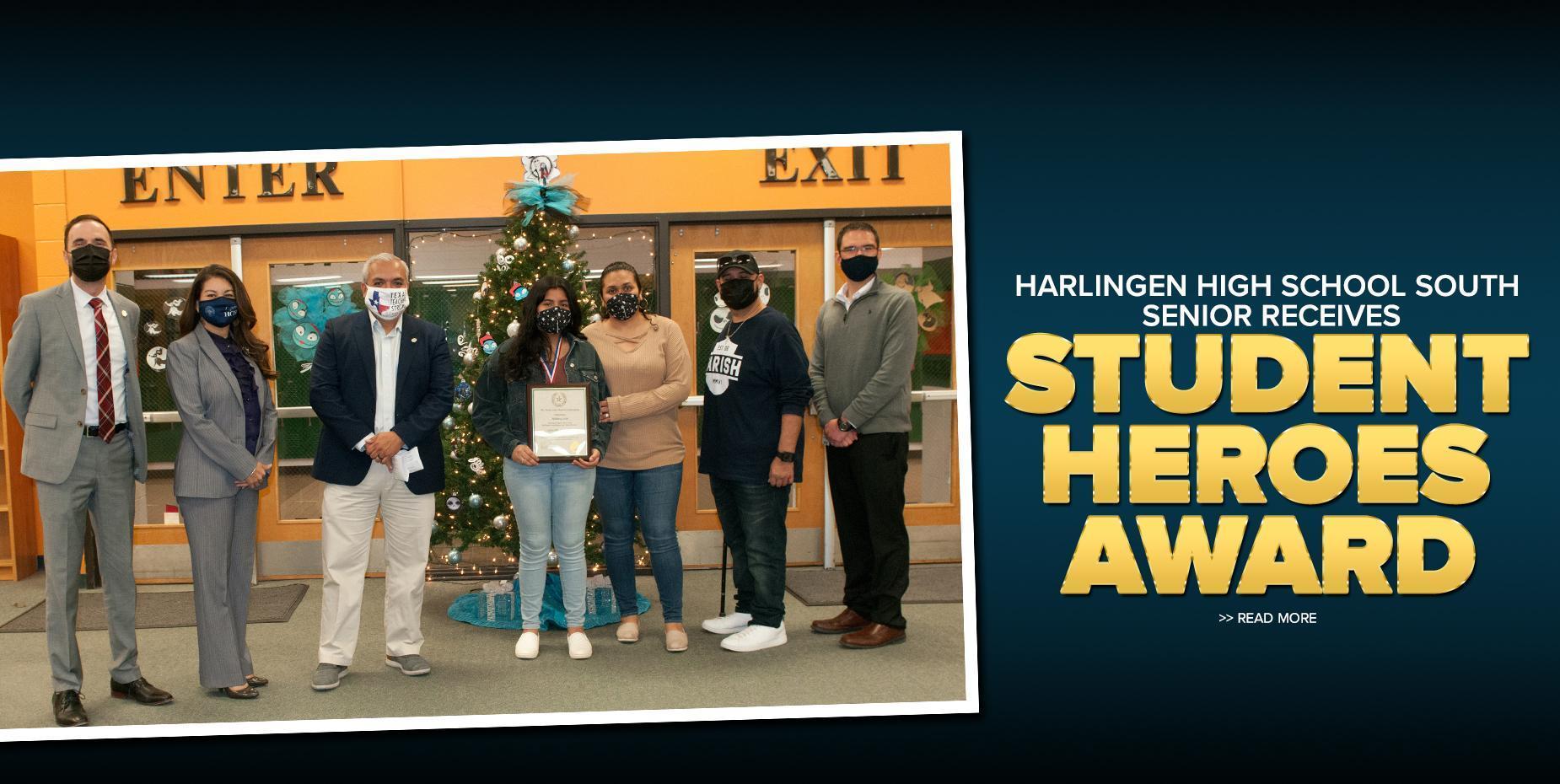 Harlingen High School South senior receives Student Heroes Award