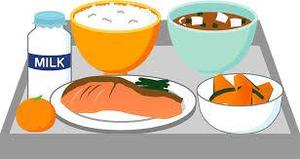 Clip art of tray with school food