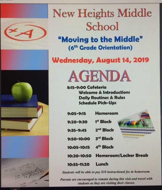 Moving to the Middle - 6th grade Orientation - August 14 Featured Photo