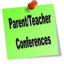 Image of Parent Conferences post it.