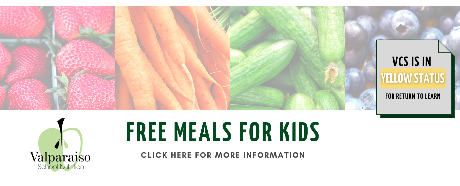 Free Meals for Kids banner