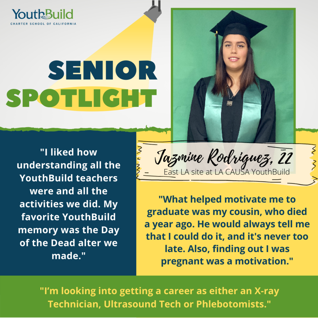 Senior Spotlight for graduate Jazmine Rodriguez