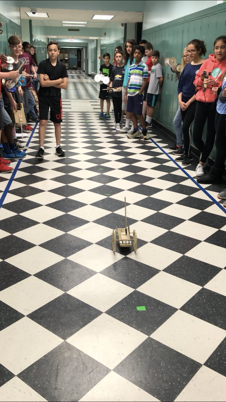 Students Racing their Mousetrap Cars