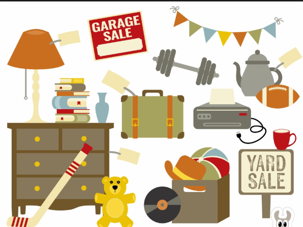 Yard sale items:  Furniture, Toys, Sports Equipment, Clothes