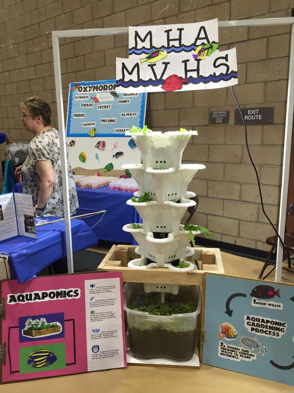 Students science fair project on Aquaponics