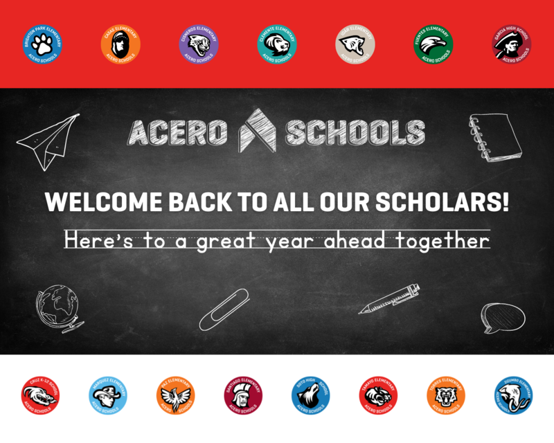 welcome back to school acero community!