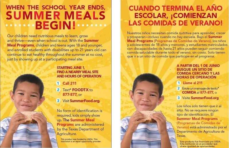 Summer Meals Begin Featured Photo