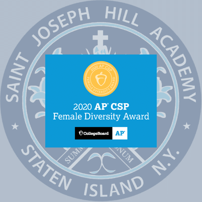 Hill earns College Board AP Computer Science Female Diversity Award in 2020 Featured Photo