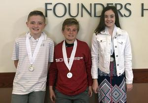 Mars Area Centennial School's Stock Market Club members Nicholas Butler, Luke Hagen and Victoria Symchak were honored at the 2018-2019 SIFMA Foundation Stock Market Game Western Pennsylvania Region Awards Ceremony,