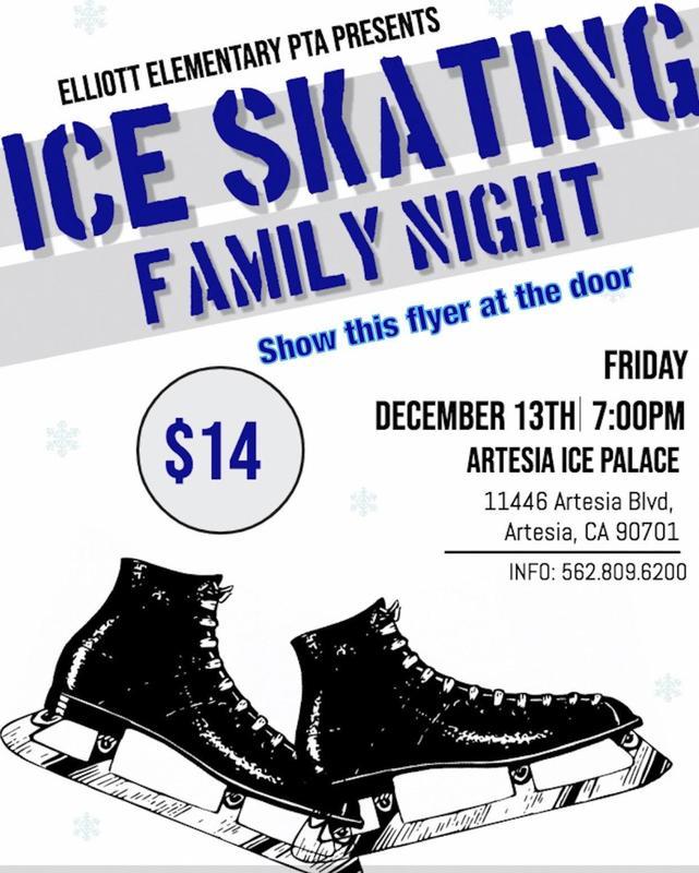 Ice Skating Family Night, Friday Dec. 13th, 7pm, $14