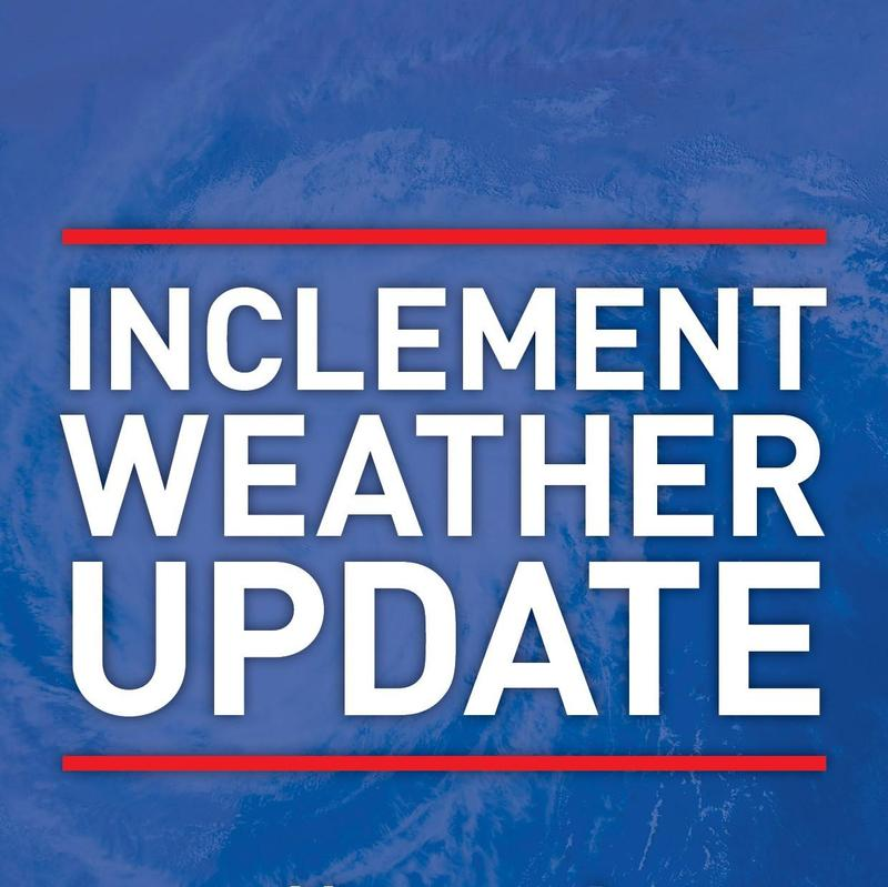 Inclement Weather update for Sep 14 Featured Photo