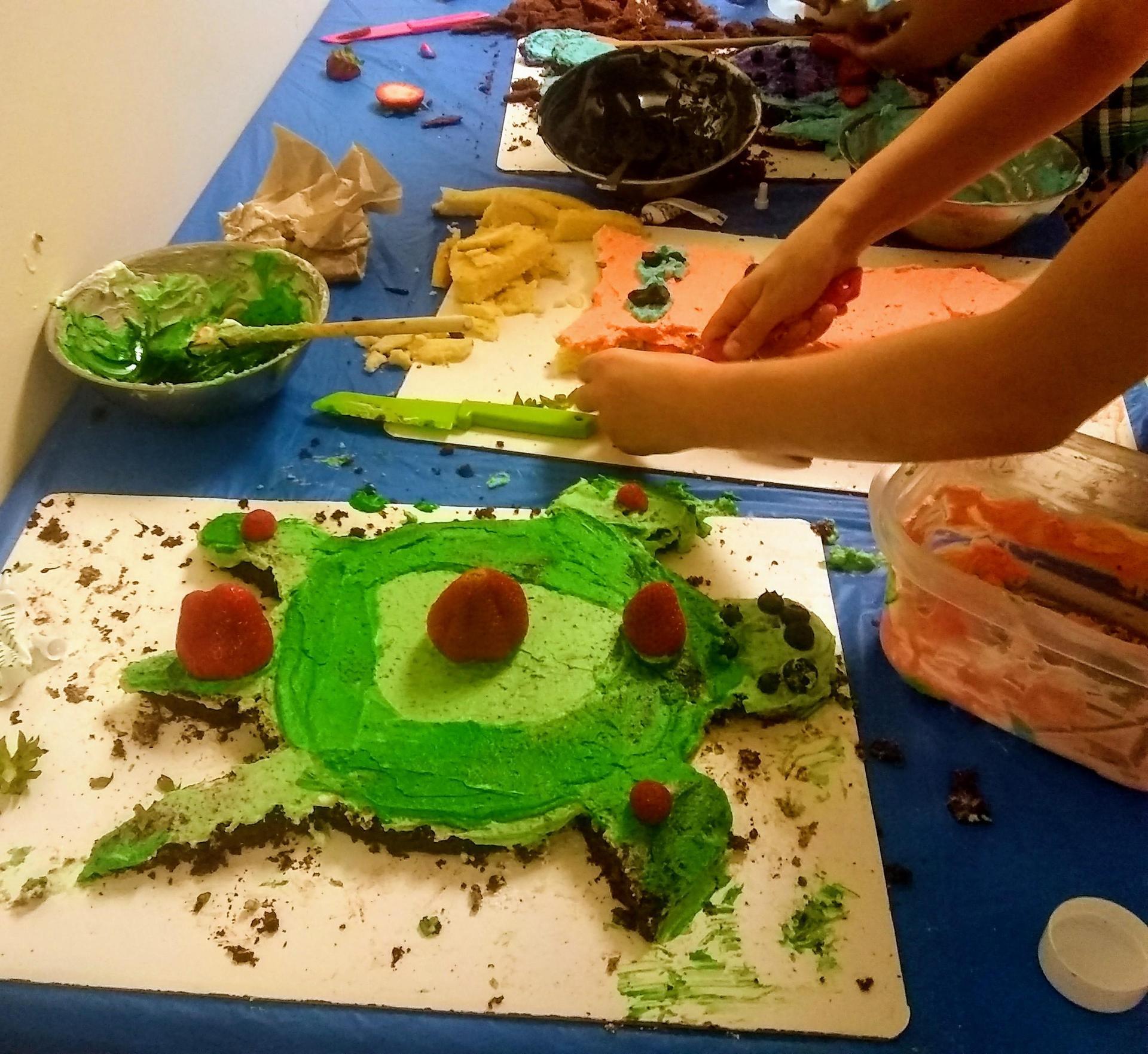 a turtle shaped cake