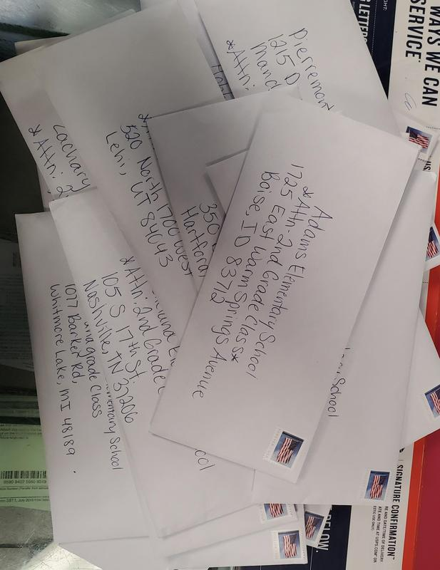 several letters written to several people in several cities & states