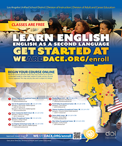 Learn English Flyer - Fall 2020