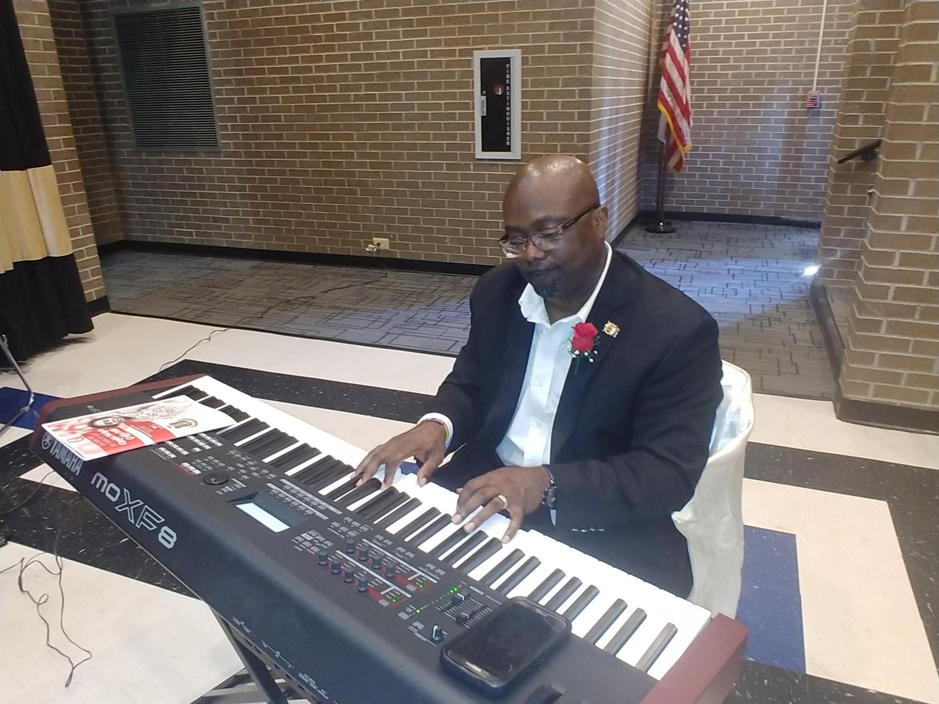Mr. David Skinner, Sr. with BCHS G. Choir Singing for Birthday Celebration 2019-2020 School Year