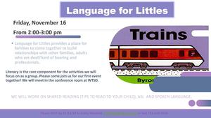 WTSD Language for Littles 11/16/18 flyer