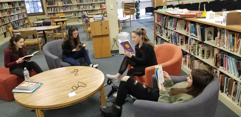 Students Peddle and Read