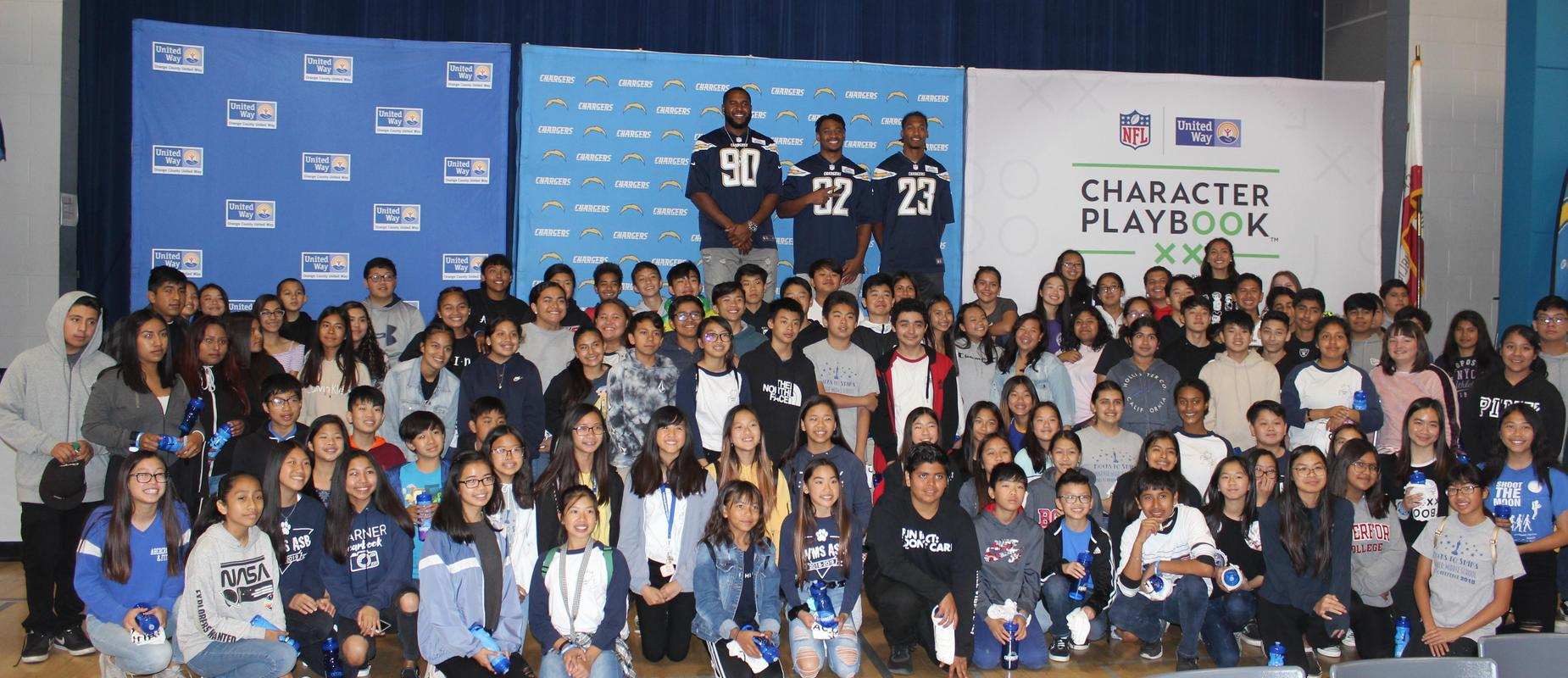 LA Chargers Promoting Character