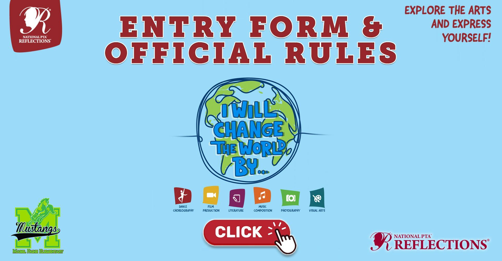 Official Rules & Entry Form for the 2021-2022 National PTA Reflections Program
