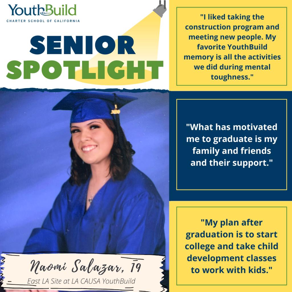 Senior Spotlight for graduate Naomi Salazar